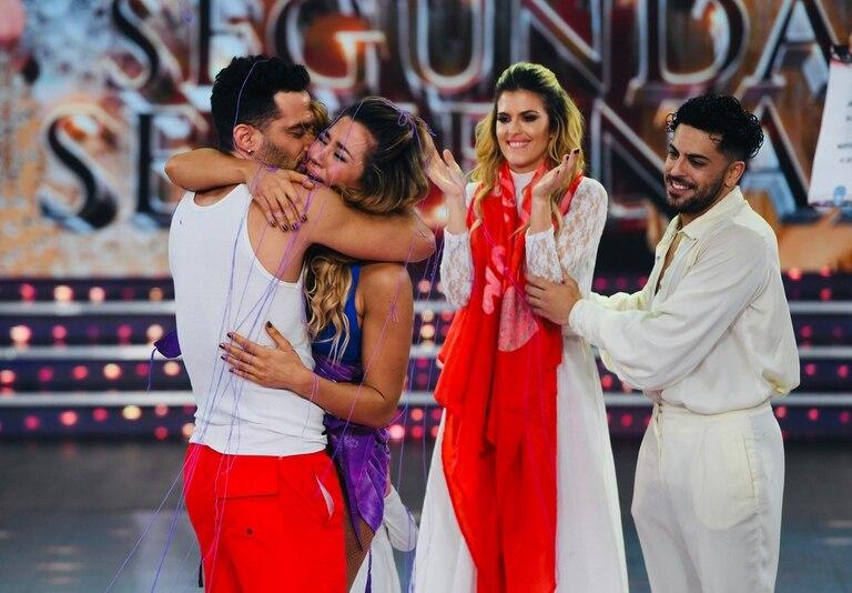 La actriz y su novio dejaron fuera de competencia a María del Cerro y Facu Mazzei