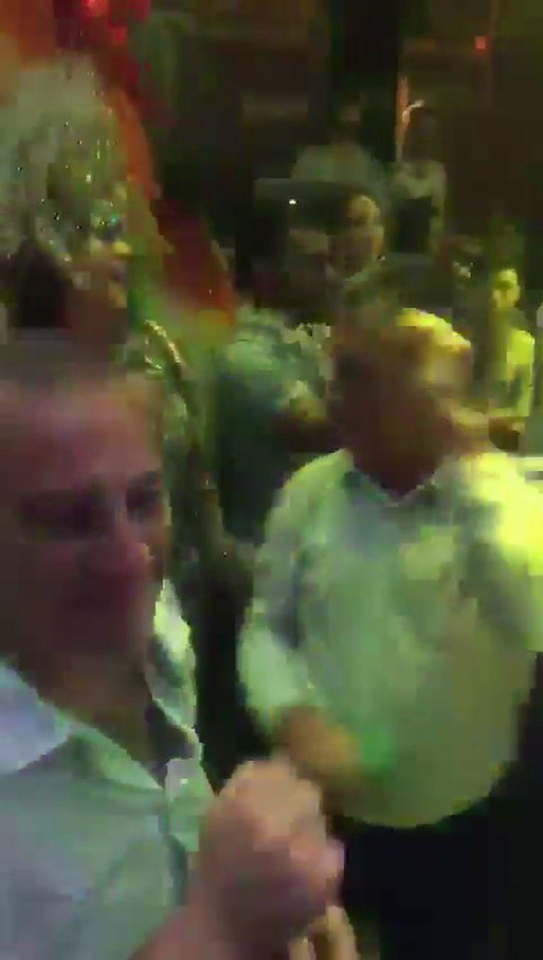 El embajador argentino en Israel, Sergio Urribarri, en un casamiento de conocidos entrerrianos.