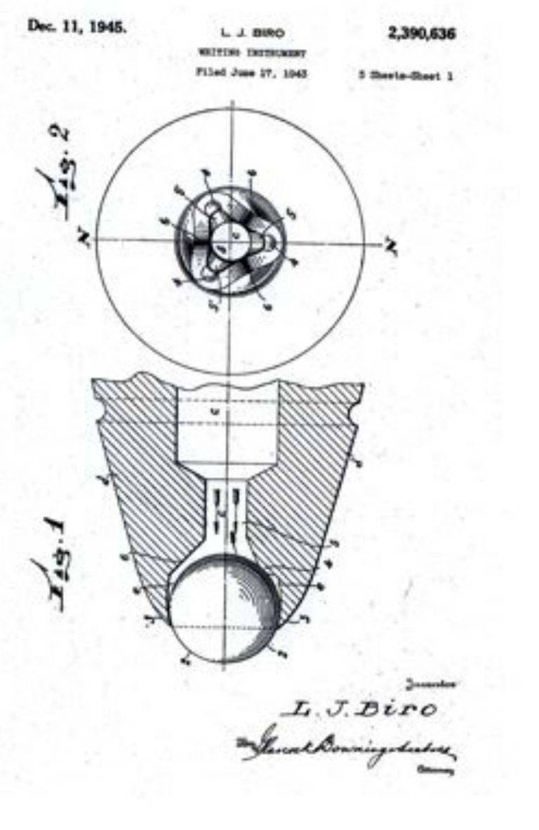 El prototipo del bolígrafo, un sistema que casi no tuvo mejoras desde el momento de su creación