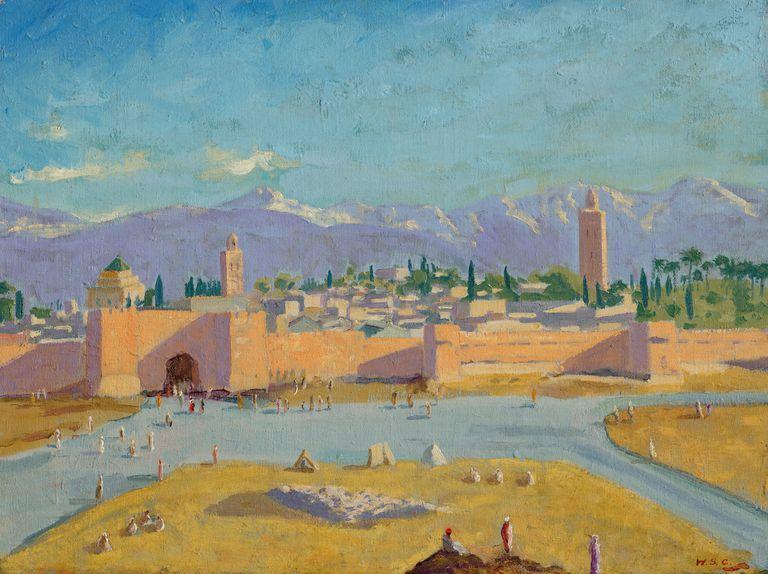 Tower of the Koutoubia Mosque, pintada por Winston Churchill en 1943, se remantó por 11,5 millones de dólares