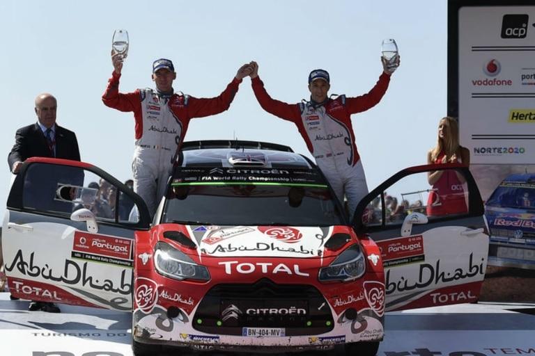 Kris Meeke festejó en el Rally de Portugal