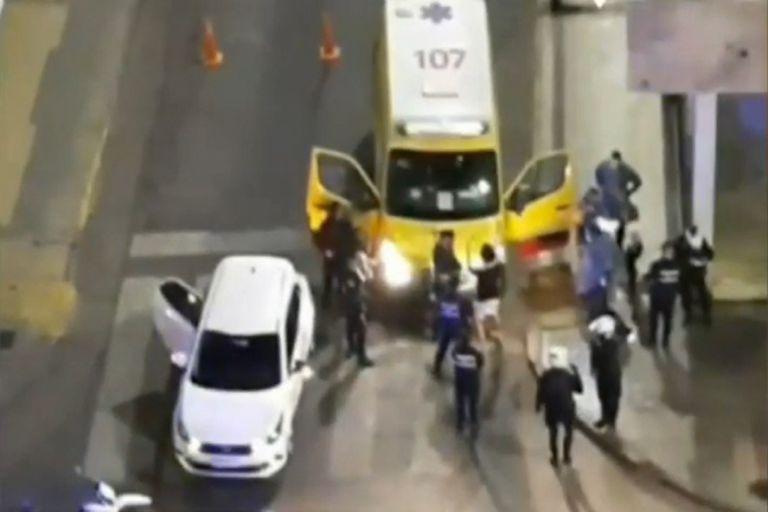 La discusión entre policias y los amigos de Blas Correas, cuando el joven ya había sido baleado