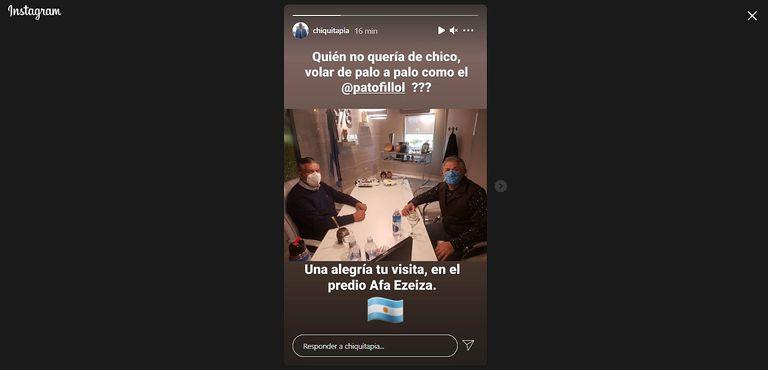 AFA: Chiqui Tapia recibió a Fillol y se rindió a sus pies