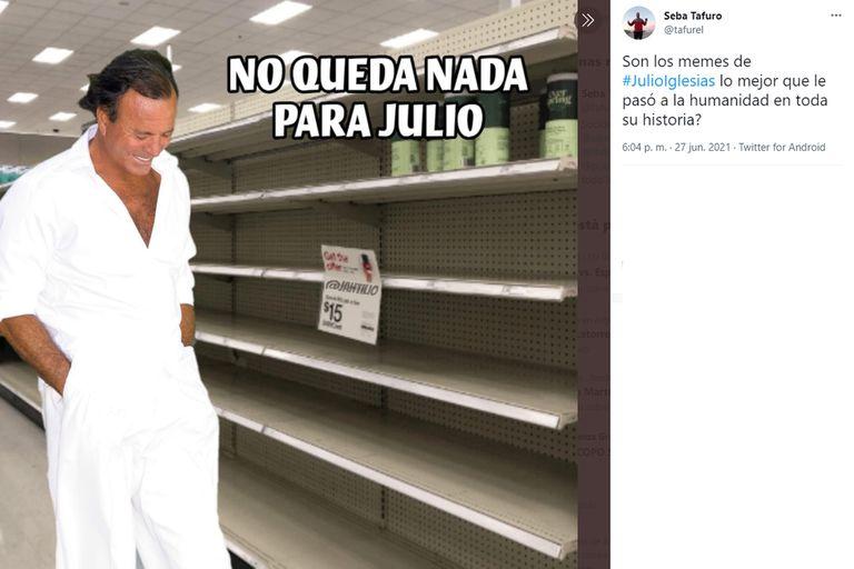 Empieza julio de 2021 y volvió Julio Iglesias como cara de todos los memes