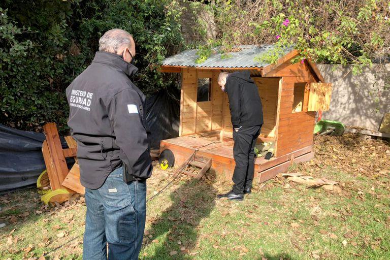 El ministro Sergio Berni participó del hallazgo del búnker narco