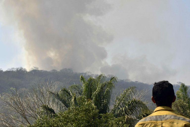 Incendio forestal en Santa Cruz, Bolivia