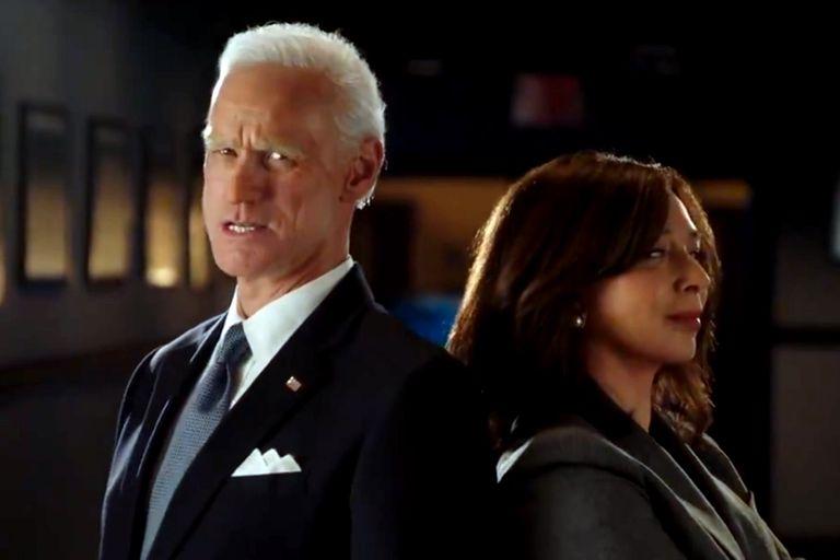 Las primeras imágenes de Carrey como Biden y de Maya Rudolph como Kamala Harris