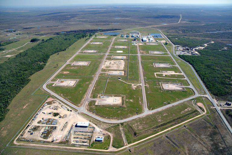 El sitio de la Reserva Estratégica de Petróleo en Big Hill, Texas