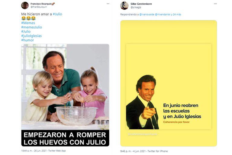 Más memes de Julio Iglesias: el humor se vive en Twitter al ritmo del cantante español
