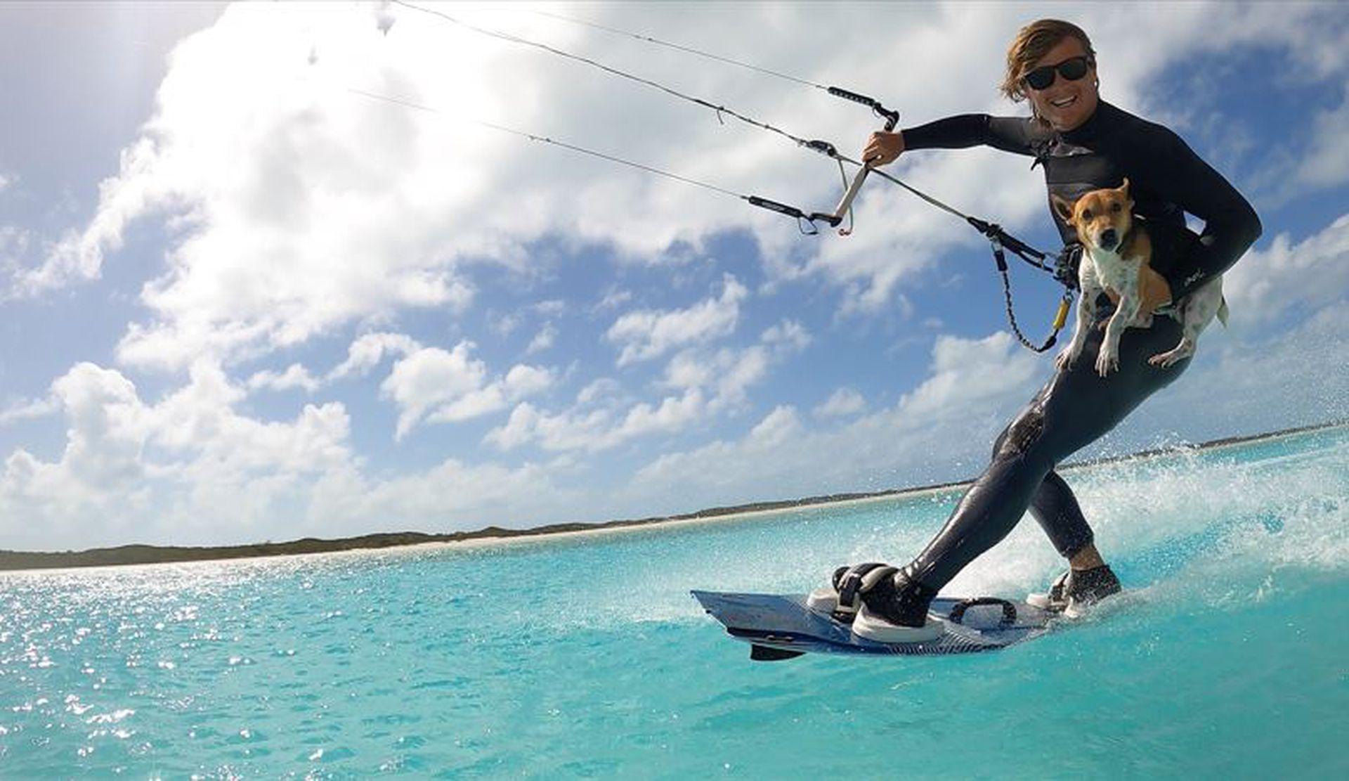 Kitesurf, una de las pasiones de Thomas, que también practica en el Caribe