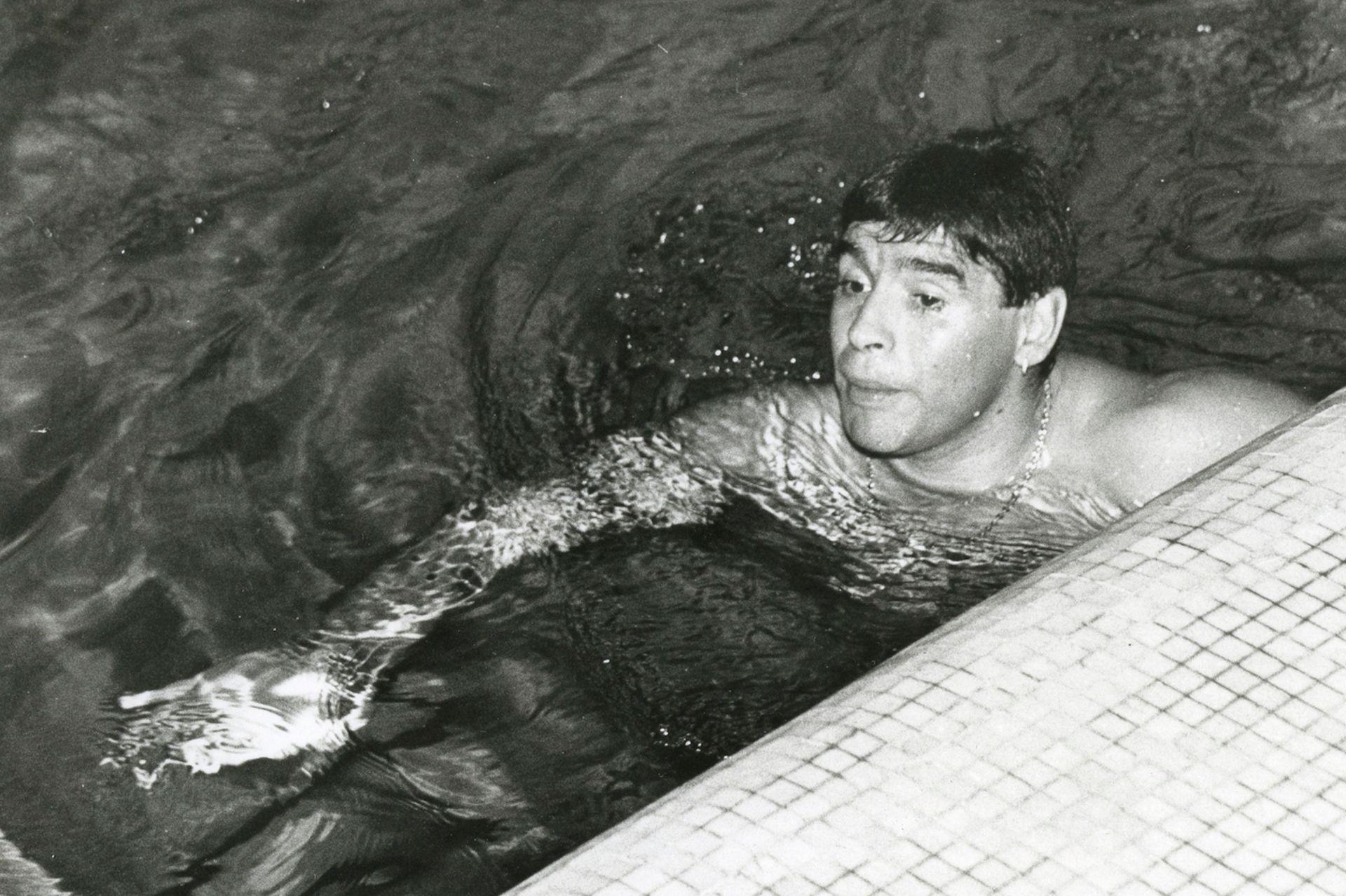 El entrenamiento de Diego en La Pampa: un poco de natación