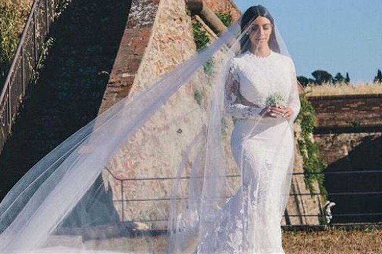 A cinco años de su boda, Kim Kardashian compartió fotos inéditas del gran día