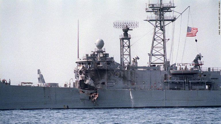 El USS Stark que fue atacado por error por otro buque iraquí