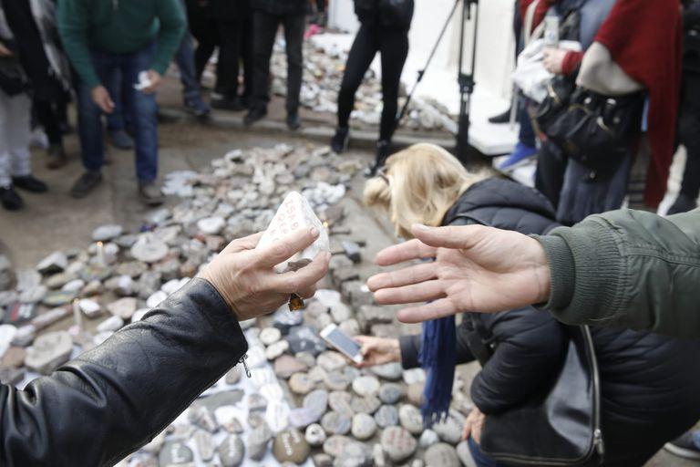 Marcha de la piedras en la Quinta de Olivos