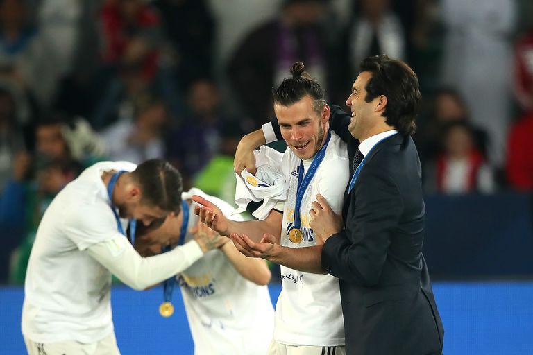 Con Sergio Ramos y Bale, en los festejos por la coronación en el Mundial de Clubes 2018 con Real Madrid; condujo en 32 partidos al primer equipo, con 22 triunfos, dos empates y ocho derrotas, hasta marzo de 2019; contando las categorías formativas, dirigió a equipos del Real en 118 encuentros