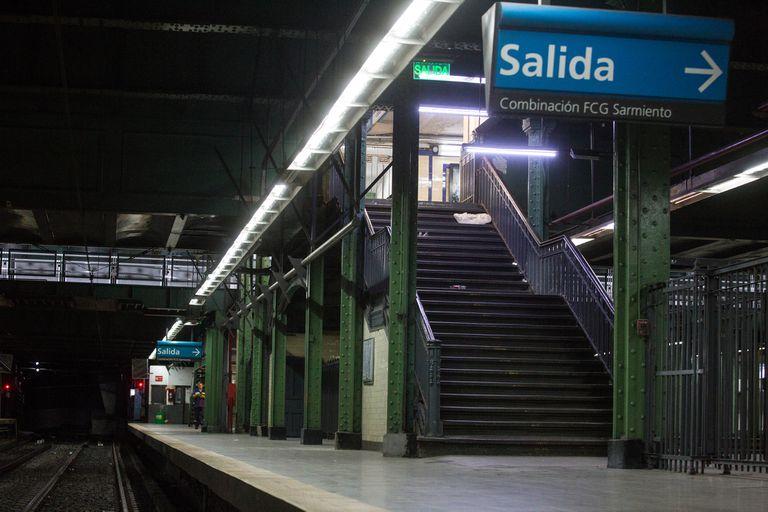 La estación Miserere, donde se hacía el trasbordo entre el Ferrocarril Oeste y el subterráneo