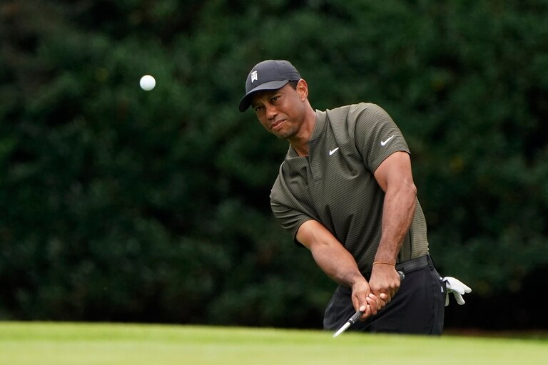Tiger Woods en la primera ronda