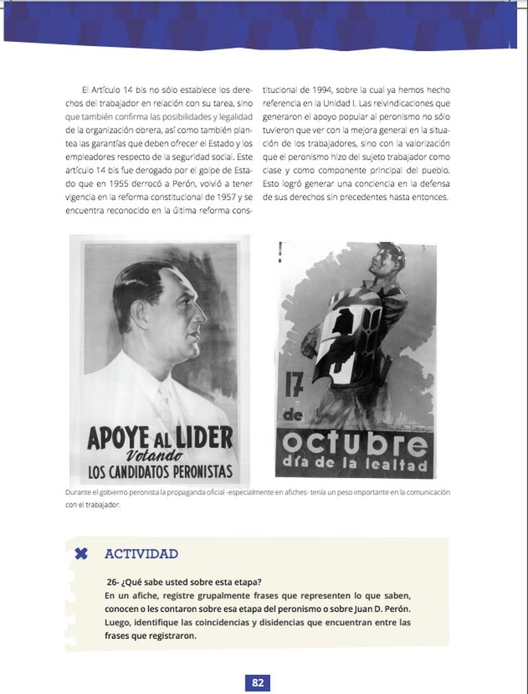 Una de las páginas del manual