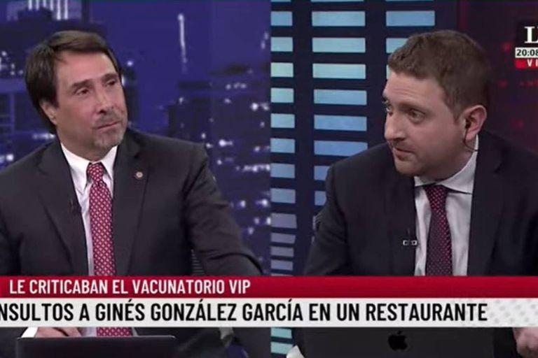 La reacción de Feinmann y Jony Viale ante el video de Ginés González García insultado