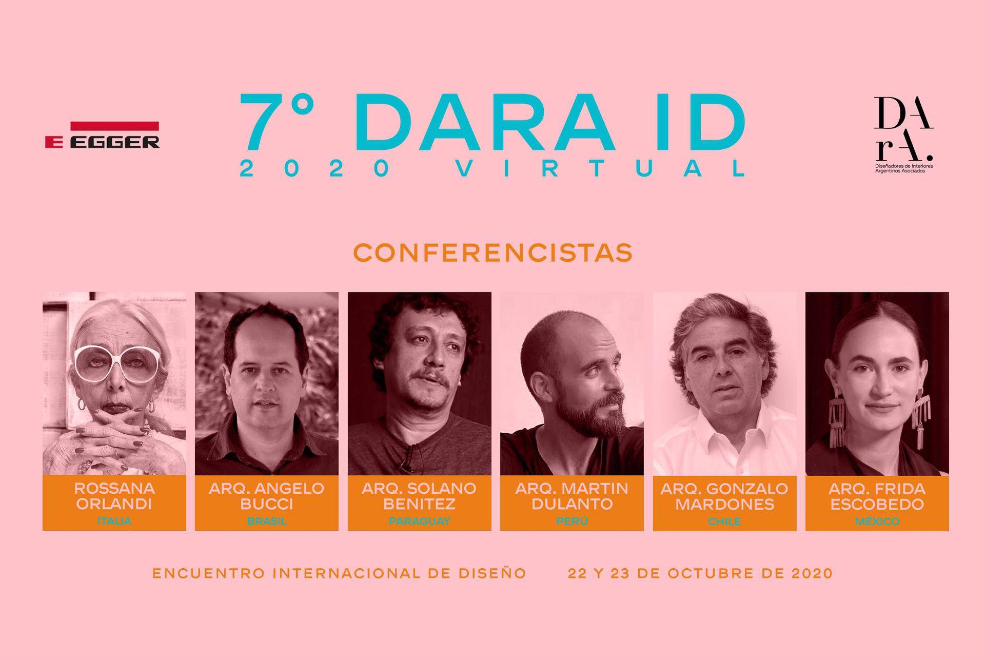 Los conferencistas de la 7 edición de DArA, este año todo digital