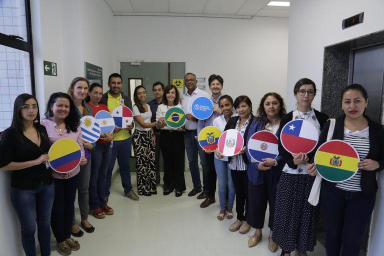 Andrea Pontoriero, del Servicio de Virosis Respiratorias de la Anlis Malbrán participó la semana pasada del entrenamiento en Brasil junto con colegas de otros nueve países de la región