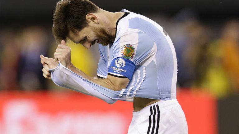 La tristeza de Messi tras la derrota ante Chile