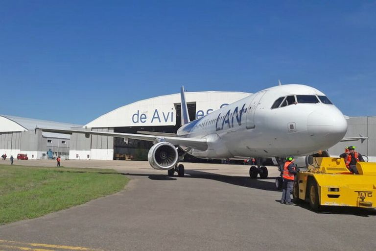 Fadea. La empresa sigue manteniendo aviones de Latam, pese a su salida del país